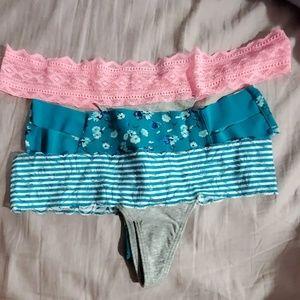 PINK 3 thongs